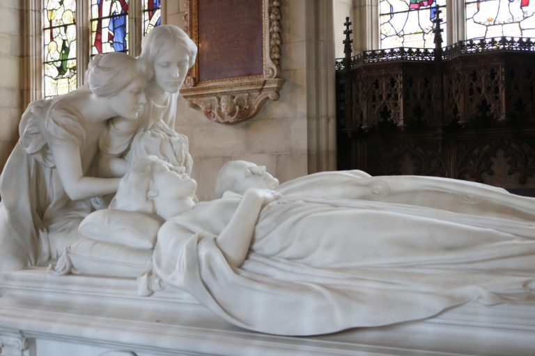 Lady Mary Curzon and Lord Curzon's Marble Tomb Chest at All Saints Church, Kedleston Hall