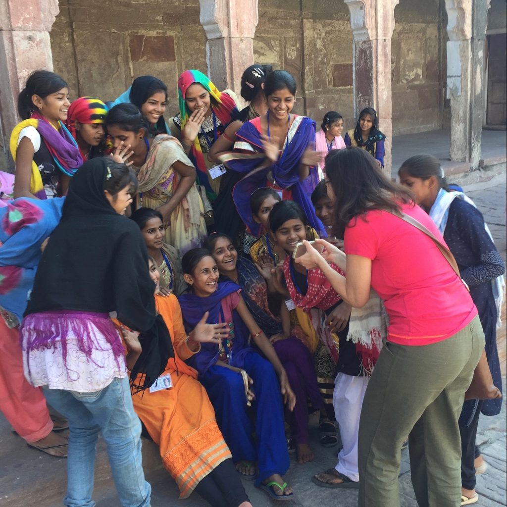 A group of students in Jodhpur India