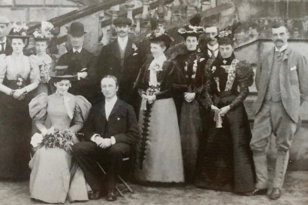 Lady Curzon with George Curzon's family at Kedleston Hall