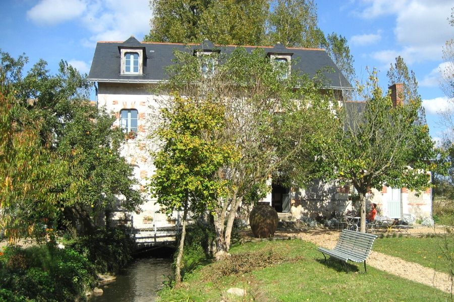 An old water mill turned hotel in Loire Valley
